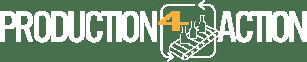 Production4Action Logo horizontal blanc