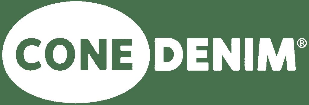 Cone Denim Logo - White