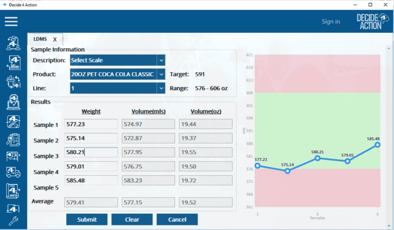 Sample Information screenshot