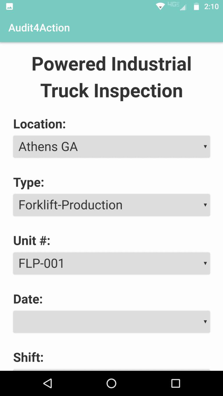 Truck inspection mobile screenshot
