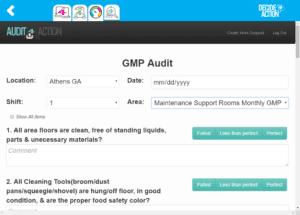 GMP audit screenshot