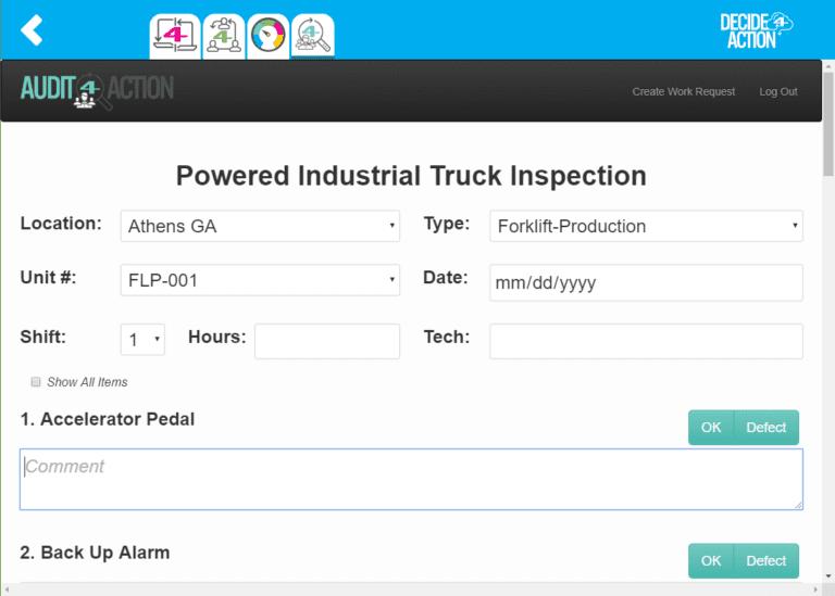 Truck inspection screenshot