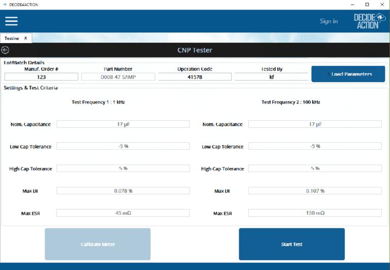 CNP Tester screenshot