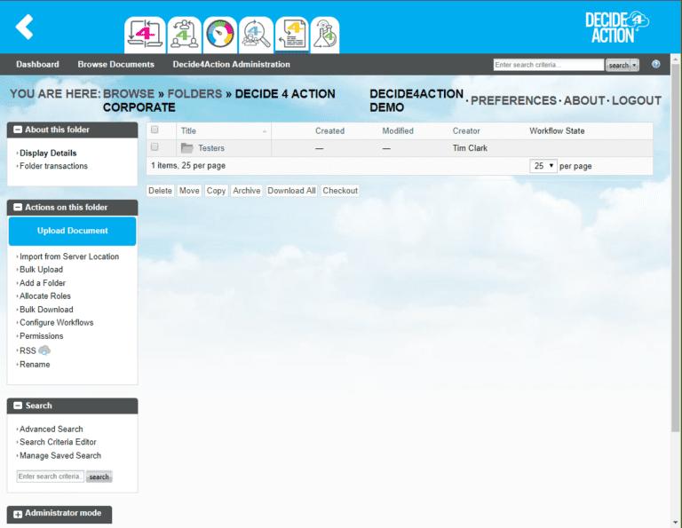 Document4Action display details screenshot