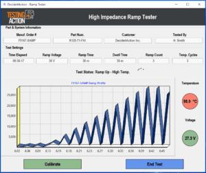 High Impedance Ramp Tester screenshot