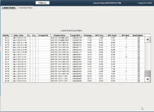 Label scanning history screenshot