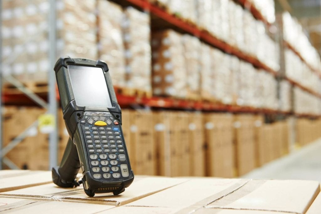 Scanner in the warehouse