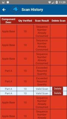Multiple bad scans screenshot