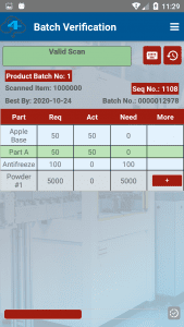 Batch valid scan screenshot