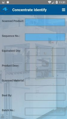 Batch concentrate identify screenshot